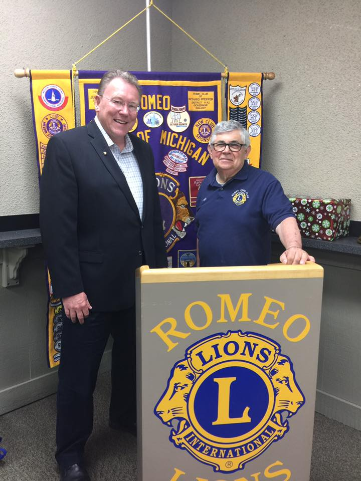 Don Brown Visits Romeo Lions Club