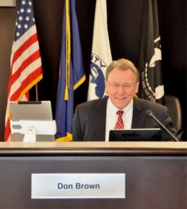 Macomb County Commissioner Don Brown Working Hard at Desk